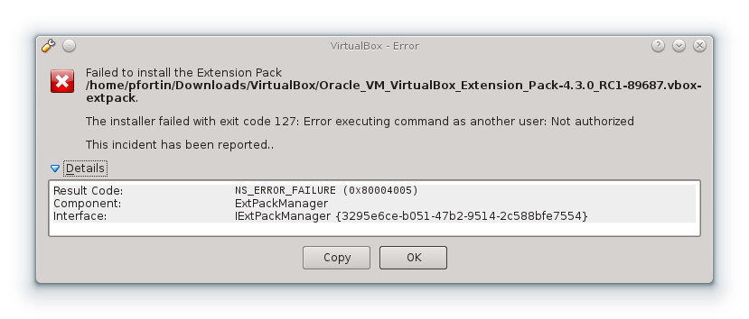 virtualbox extension pack download