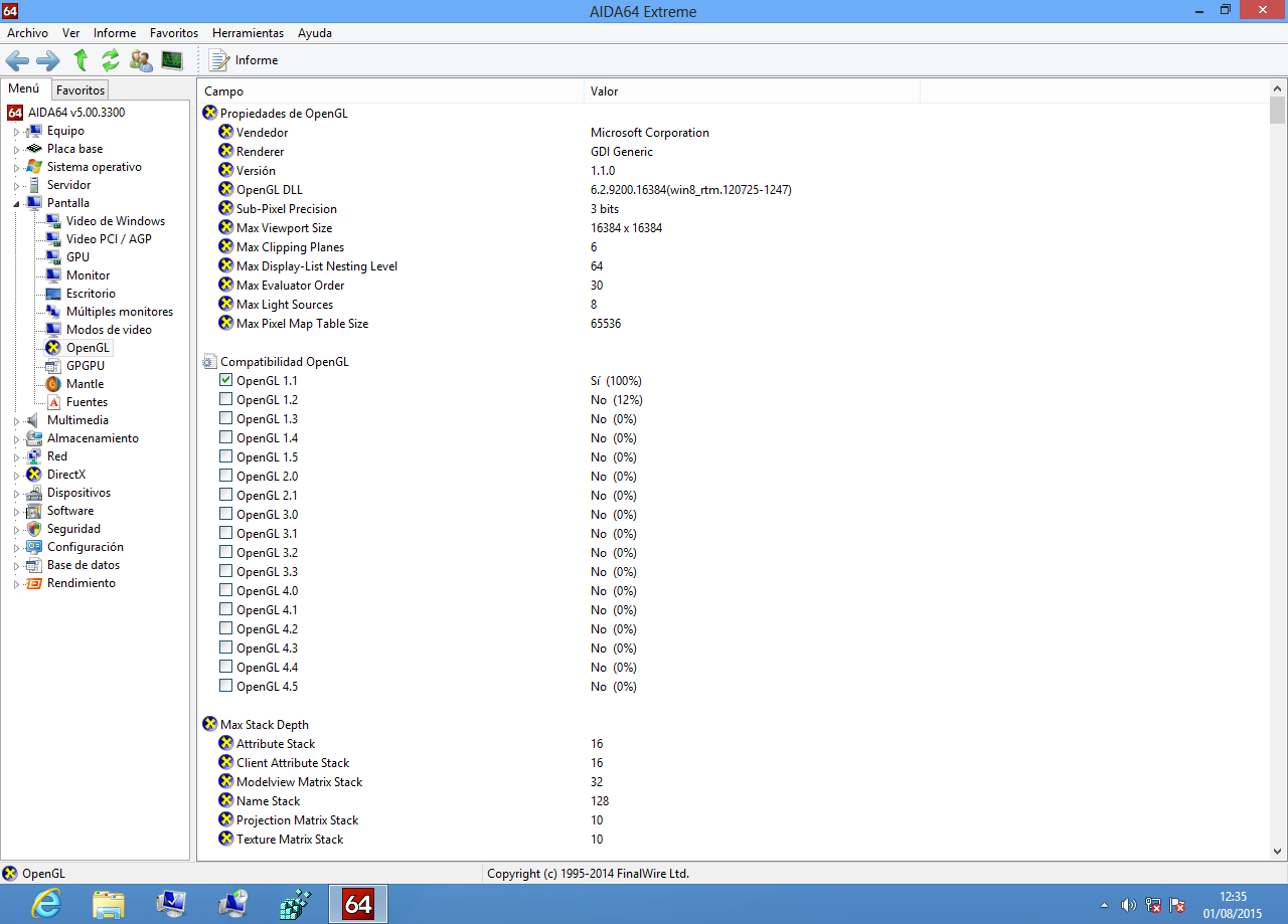12048 (No OpenGL Support for Windows 8) – Oracle VM VirtualBox