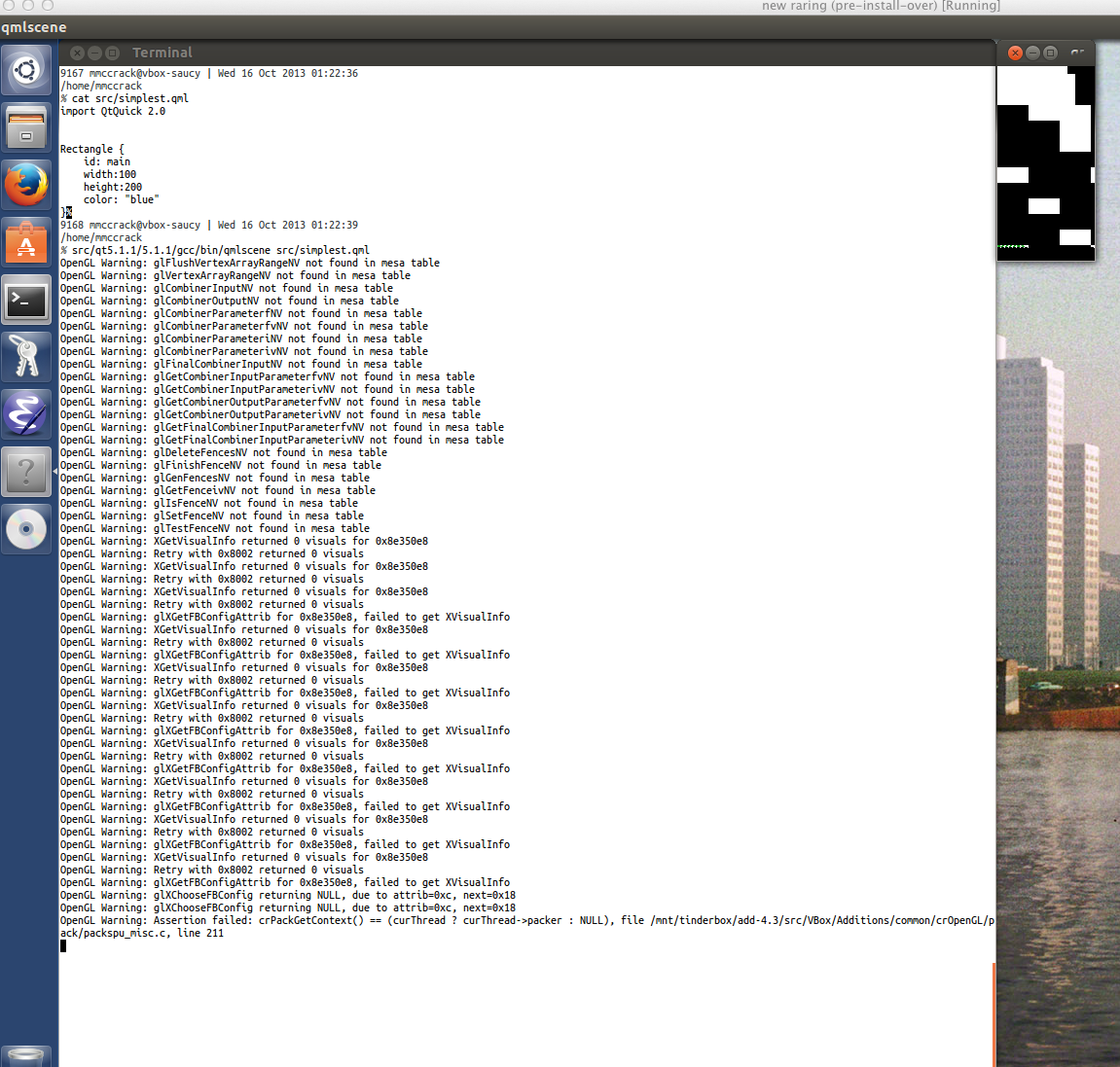 12188 (corrupt graphics when running QML applications in linux gues