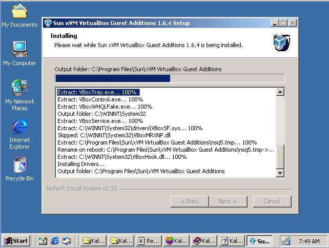 additions virtualbox