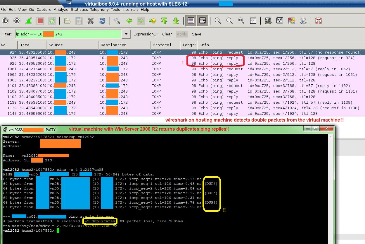 15014 (Virtual Machine returns duplicate network packets (host SLES