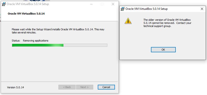 15051 (5 0 14 installation stalls / fails on Windows 10