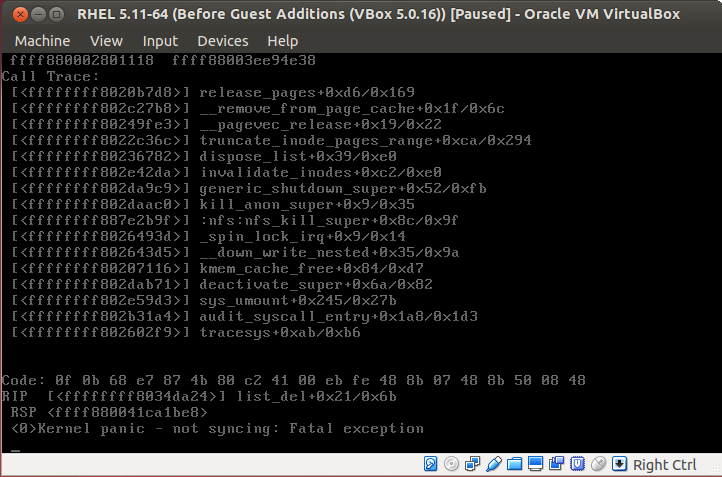 15221 (VirtualBox 5 0 16 Guest Additions fail to install