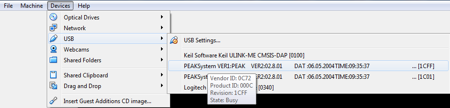 15400 (USB: Can't enter a hexdecimal revision no at the USB device