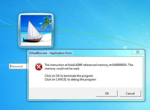 15696 The Memory Could Not Be Read Oracle Vm Virtualbox
