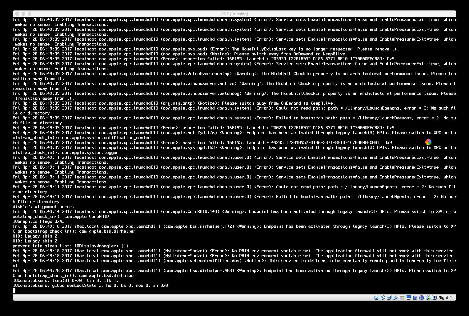 16644 (Installation of clean OSX 10 12 4 fails ) – Oracle VM VirtualBox
