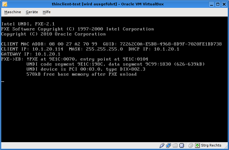 2536 (PXE Boot failure -> Fixed in SVN) – Oracle VM VirtualBox