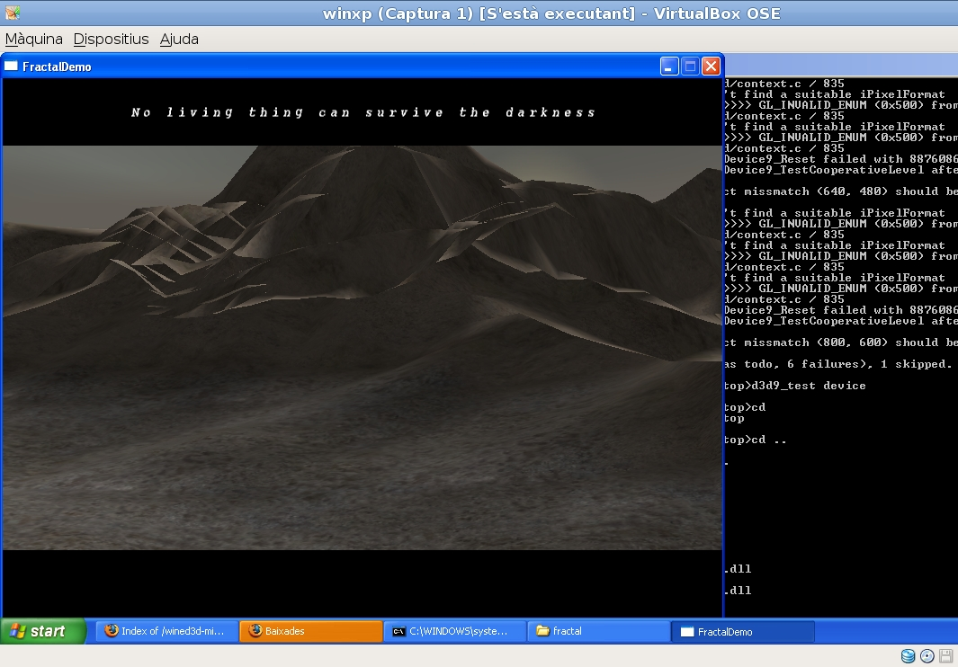 2940 (VirtualBox should support Direct3D through WineD3D
