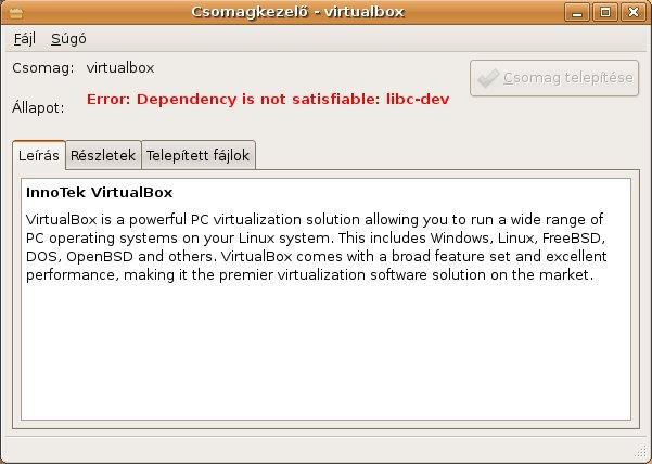 34 (Dependency conflict in Ubuntu packages ) – Oracle VM