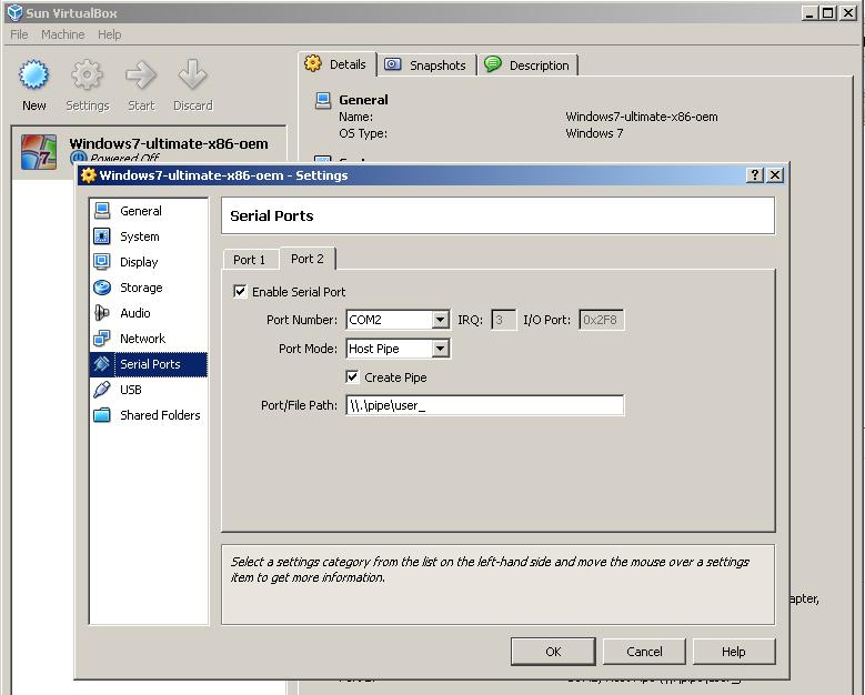 Configuring Access to Serial Ports - Oracle Help Center