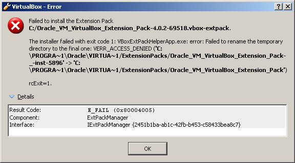 extension virtualbox
