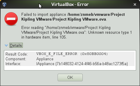 7983 (OVF from Virtual Machine created on VMware Workstation